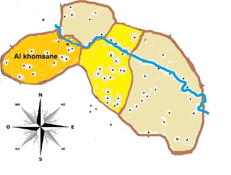 Carte d'Al Khomsane