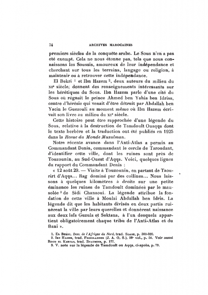 Archives Marocaines, 28 et 29 sidi ahmed ou moussa_Page_075