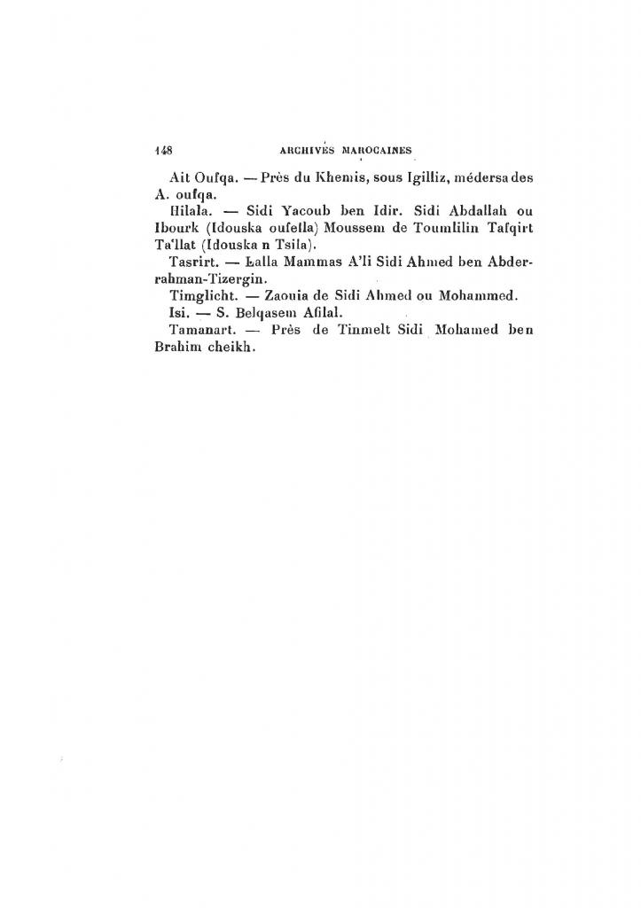 Archives Marocaines, 28 et 29 sidi ahmed ou moussa_Page_149